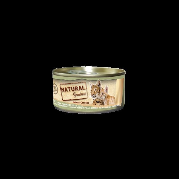 Natural & Greatness peito de frango  Kitten/Adult 70Gr