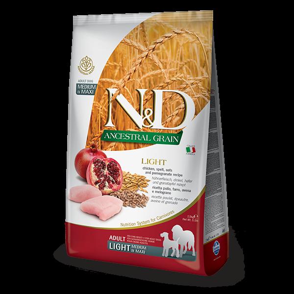 N&D Low Ancestral Grain Chicken & Pomegranate Light Medium/Maxi 2,5