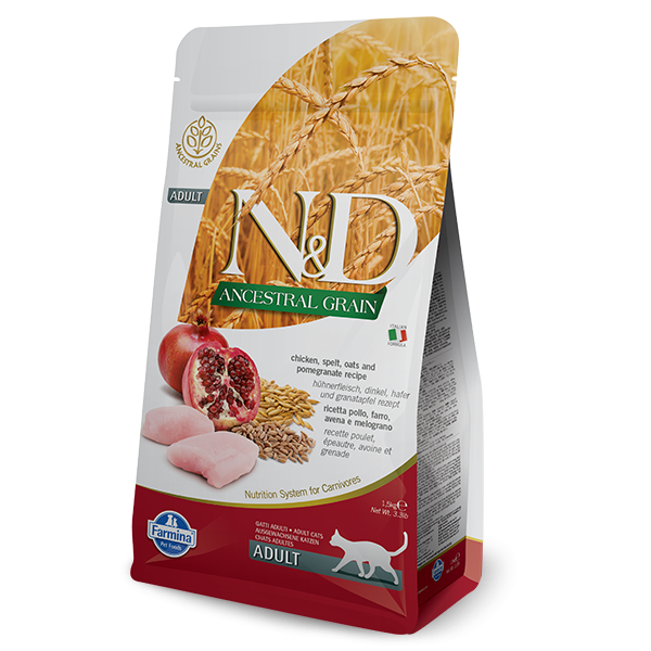 N&D Low Ancestral Grain Chicken & Pomegranate Adult Feline -300gr