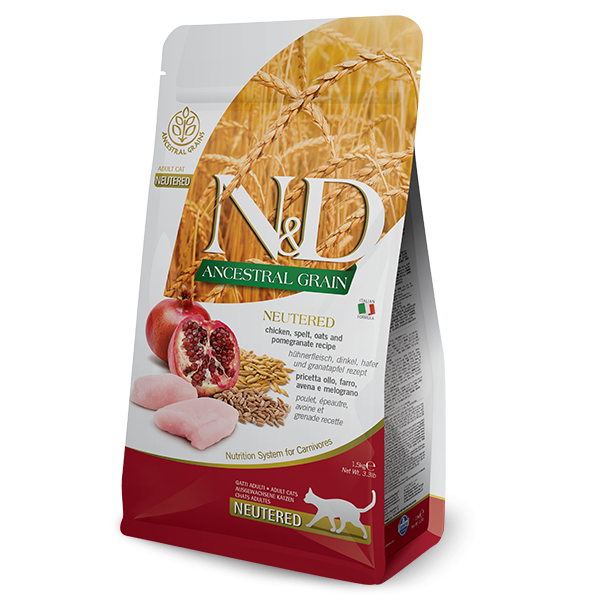 N&D LOW ANCESTRAL CHIKEN AND POMEGRANATE NEUTERED-300g