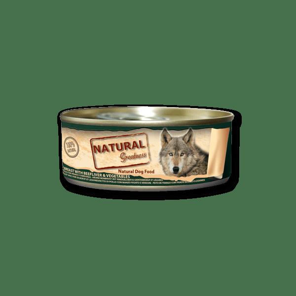 Natural & Greatness Peito de frango com Fígado Vegetais 156g