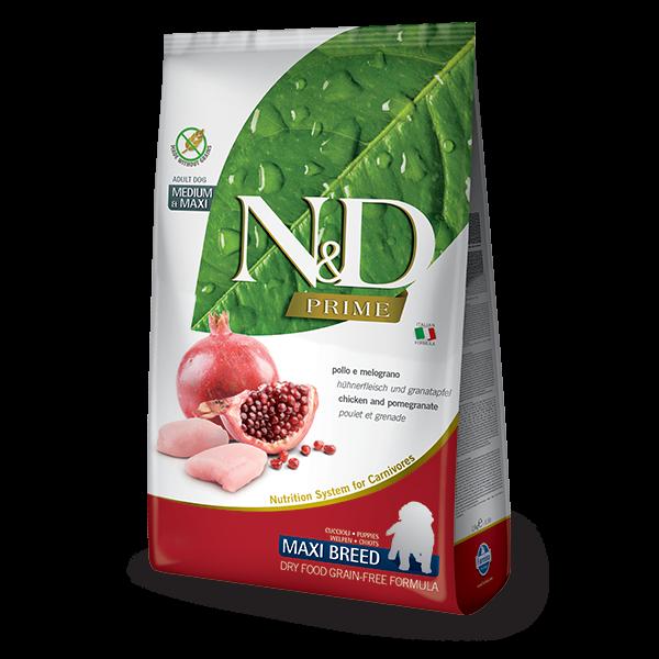 N&D Grain Free Prime Chicken & Pomegranate Puppy Maxi Dog-12Kg