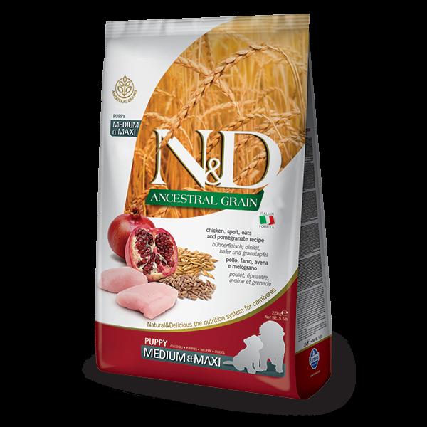 N&D Low Ancestral Grain Chicken & Pomegranate Puppy Medium/Maxi Dog-2,5Kg