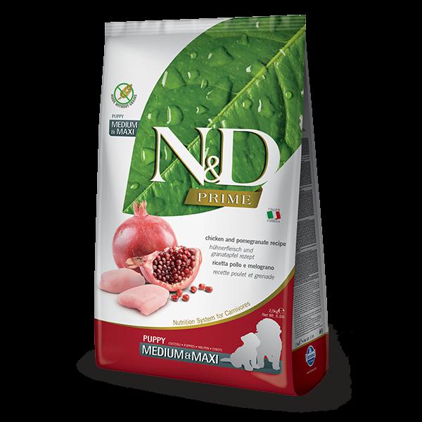 N&D Grain Free Prime Chicken & Pomegranate Puppy Med/Maxi Dog-12KG