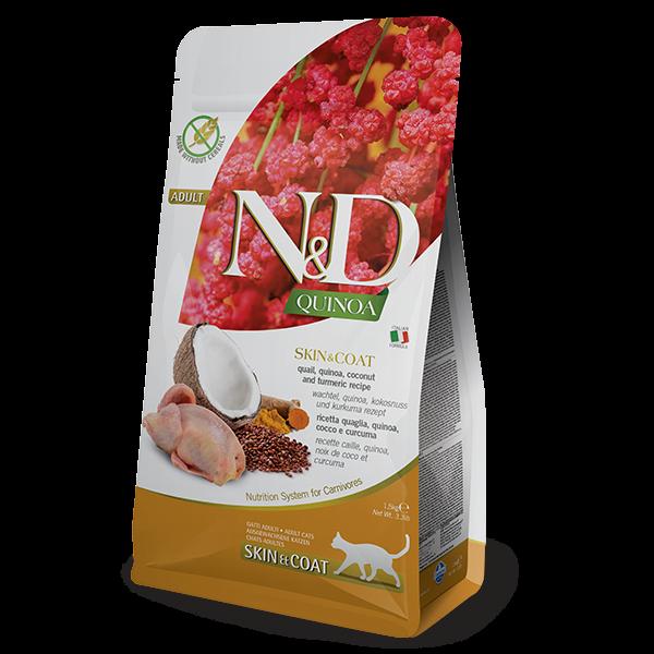 N&D QUINOA SKIN & COAT QUAIL FELINE 1,5kg