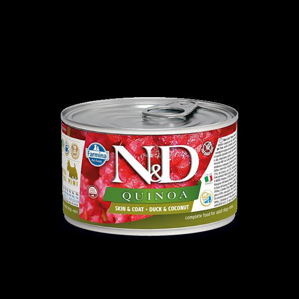 N&D Quinoa Skin&coat Duck mini wet food 140gr