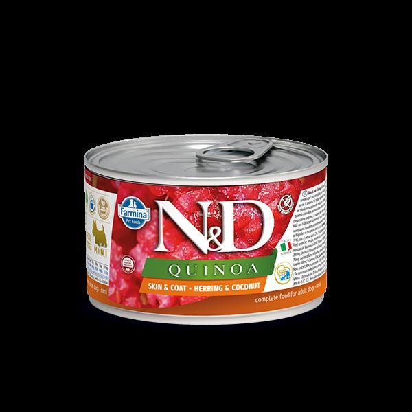N&D Quinoa Skin&coat herring mini wet food 140g