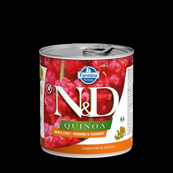 N&D Quinoa Skin&coat herring wet food 285g
