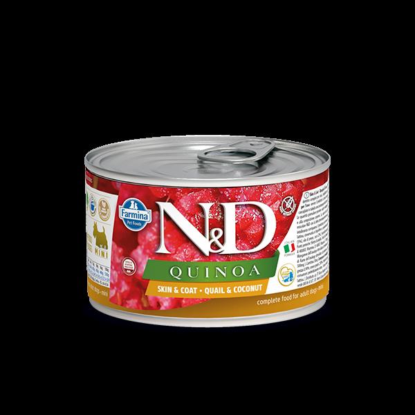 N&D Quinoa Skin&coat Quail mini wet food 140g