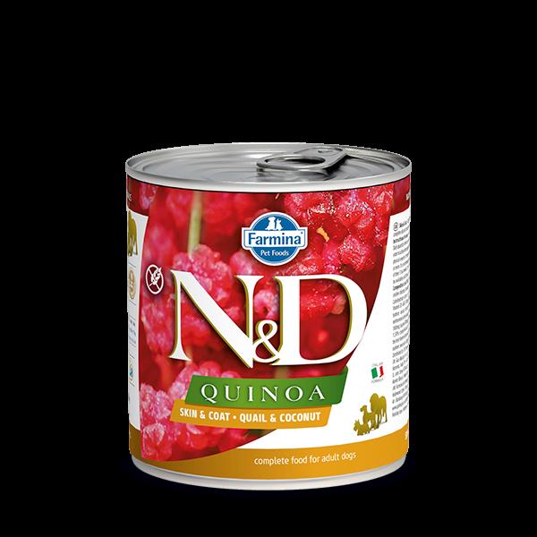 N&D Quinoa Skin&coat Quail wet food 285g