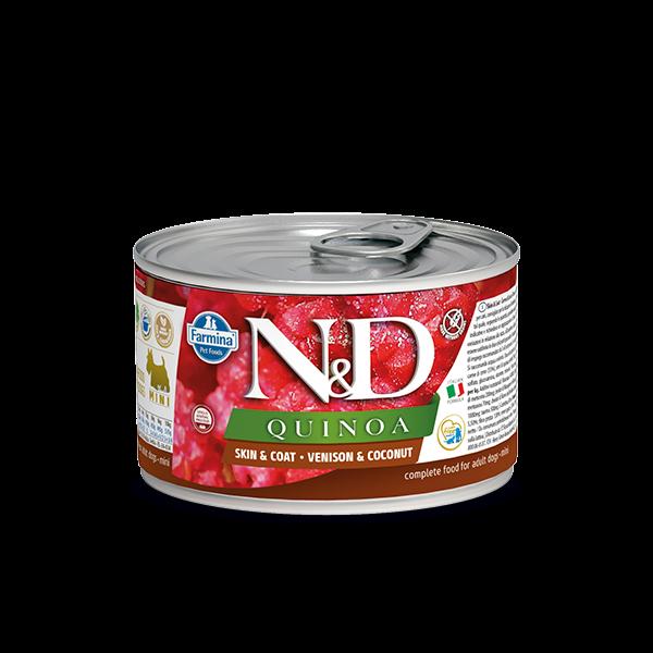 N&D Quinoa Skin&coat venison mini wet food 140g