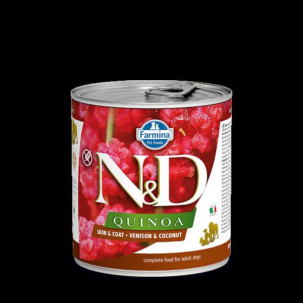 N&D Quinoa Skin&coat Venison wet food 285g