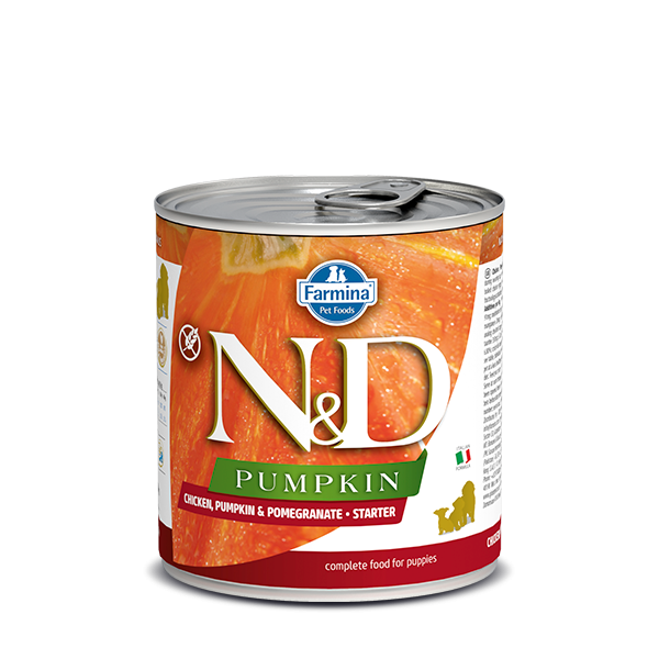 N&D CHICKEN, PUMPKIN & POMEGRANATE - STARTER WET FOOD 285g