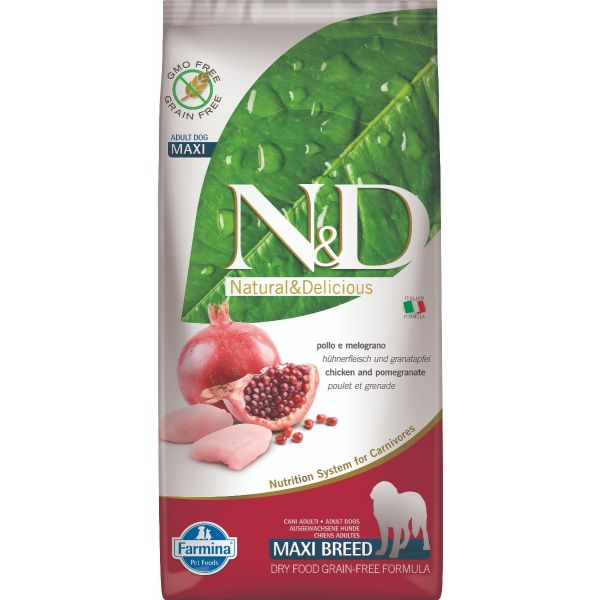 N&D Grain Free Chicken & Pomegranate Adult Maxi 12Kg
